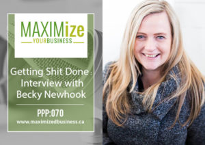 Getting Shit Done: Interview with Becky Newhook – PPP: 070
